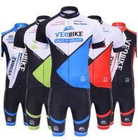 Wholesale 2015 Top Selling Team VEO Bike Bicycle Wear Black Color Bike Clothing Blue Stripe Summer Bicycle Cycling Jersey Sets with Bib Quick Drying
