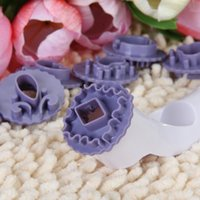 Wholesale IMC Handle Moulds Plastic Fondant Decorative Punch Set Purple order lt no track