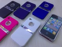 Wholesale Iphone4S upper and lower lid with plating rack mobile phone protection shell appearance color options