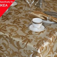banquet tablecloth sizes - 1 Handmade Larger Size Table Cloth Embroidery Tablecloth x180cm Jacquard High end Party Banquet Cover Decor Doilies