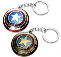 animation films - The Avengers Captain America Shield Alloy Pendant Keychains Key Ring Keychain Favors film animation cartoon Fashion Accessories party gift