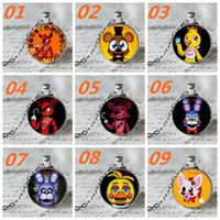 Wholesale DHL free styles fashion New necklace five nights at freddy s Necklace Top quality Five Nights At Freddy s FNAF necklace pendants D50