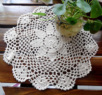 doilies - IKEA zakka fashion cm Round pic cotton crochet lace doily for home decor felt coaster cup pad pot holder as table napkin