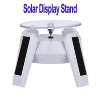 led jewelry display lighting - New White Solar Powered Jewelry Phone Rotating Display Stand Turn Table with LED Light H8736