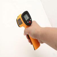Wholesale US Stock Digital Infrared Thermometer Non Contact Industrial IR Temperature Gun LCD Digital Laser Gun laser pointers C GM550