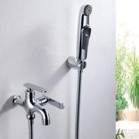 Cheap Modern Toilet Bidet Faucet Handheld Portable Wash Cleaner Hose Sprayer Shattaf WC Toilet Shower Jet Set Female Urinal Flush Tap Furniture
