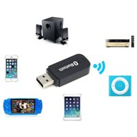 Wholesale USB Wireless Bluetooth V4 mm Stereo Audio Music Receiver Adapter for iPhone plus for Samsung S6 Edge ipad Android DHL