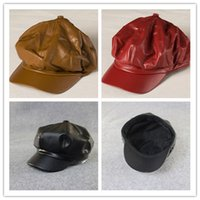 Wholesale Leather Berets High Quality New Style Korean Fashion Lady Hats Winter Hats For Women Outdoor Caps