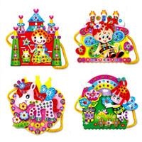 Wholesale EVA Cartoon Handmade Bags DIY Hand sewn Diamond Educational Toys For Child