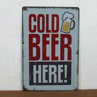 Cheap Cold beer here paiting Tin Sign Bar pub home Wall Decor Retro Metal Art Poster