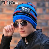 Wholesale Mixed Batch nbspDG1616 dongguo Mall Korean trend skull scarf knitted wool hat winter hats for men nbsp a002