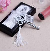 heart bottle opener - 100pcs Wedding Favors Key To My Heart Collection Key Design Bottle Opener Party Favors DHL Fedex