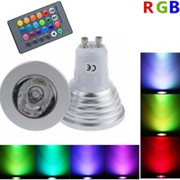 Wholesale W gu10 RGB LED Bulb Light Color RGB Changing lamp spotlight with Remote Controller for home party Improve
