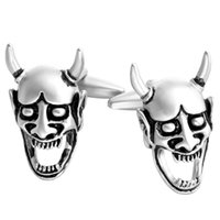 art deco cuff links - BELLA New Powerful Open Mouth Skull Cuff Links Art Deco Cuff Links For Bridegroom For Men For Lovers