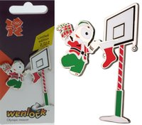 Wholesale Details about London Olympic Mascot Wenlock Christmas Santa Clause Pin Badge Unique Gift