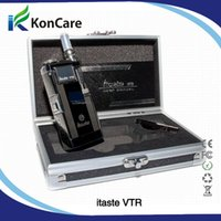 Green Metal itaste vtr wholesale original innokin itaste VTR mod with iclear 30s dual coils clearomizer variable voltage ans wattage free shipping by DHL