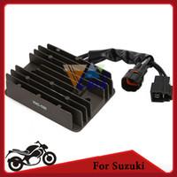 Wholesale 12v Motorbike Voltage Regulator Rectifier Black Motorcycle Bike Regulator For Suzuki GSXR600 SV1000 GSF1250 order lt no track