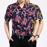 hawaiian shirts - cotton hawaiian shirt for men short sleeve Paisley Print bandana shirt Graphic Streetwear men floral shirt