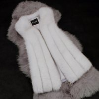 Wholesale Lowest Price Autumn Spring and Winter High Imitation Fox Fur Vest Gilet Outerwear Womens