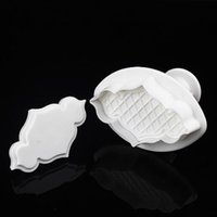 Wholesale 2Pcs Set Fence Convex Fondant Cake Biscuit Sugarcraft Plunger Cutter Craft Mold Tools Bakeware Tools Cooking tools