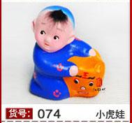 Wholesale Unique Handmade Painted sculpture Clay figurines Doll Fashion Creative Home Decorative Crafts styles option