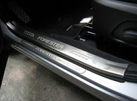 Wholesale New Stainless Steel Inside Inner Outside Door Sill Scuff Plate For Subaru Forester pieces