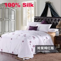 Wholesale BS108 High quality Silk Comforter Quilt Blanket Comforter Doona Duvet Bedding Sets Winter Comforter kg