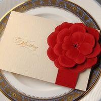 Precio de Tarjetas de navidad baratos-Big Red Flower Invitaciones de boda DIY alta calidad Tarjeta Eventos Formal Wedding Proveedores barato nueva llegada 2016 de la Navidad