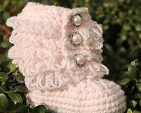venda por atacado booties crochet do bebê-Crochet bebê booties neve primeiros sapatos walker laços babados franjas 8pairs fios de algodão de design / lot 0-12M