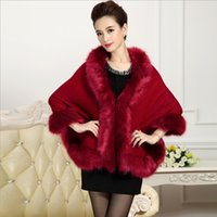Wholesale Fall and winter fashion trend of women new European and American fur cape coat cape fur collar knit sweater women