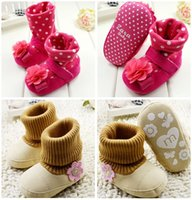 beautiful balance - Beautiful flowers soft bottom toddler girl winter shoes months soft bottom baby warm boots kids balance boots pair B3