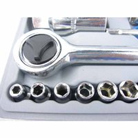 Wholesale High Quality Details about PC SOCKET SET quot quot METRIC SOCKETS with Case Car Motorcycle Repair Tools