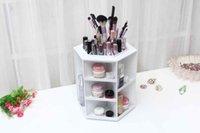 Wholesale high quality degrees rotate makeup box Desktop cosmetics storage box rotating cosmetics storage box make up storage rack