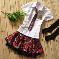 Wholesale Korean short sleeved uniforms fun spring loaded sailor British schoolgirl uniforms role playing graduate serving