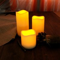 Wholesale Wholesales Flameless LED Candles Night Rechargeable Candle For Party Electronic Candle Lamps Decorative Wedding Candles LT0017 Smileseller