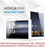 Wholesale Original ainol novo8 mini pad tablet pc quot x768 pixels Android ATM7029 QuadCore GHz GB Rom