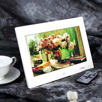 Wholesale Digital Photo Frames Picture Frame inch Hd Tft lcd Digital Photo Alarm Clock Mp3 Mp4 Movie Player with Remote Desktop White black