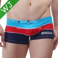 Wholesale 8 colors New Men Swimwear Sexy Men s swimming trunks Low Waist Shorts Boxers Sports suit Men Swimsuit Beachwear S M L XL