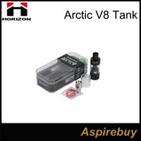 Bon Marché Réservoir turbo arctique-Authentique Horizon Arctic V8 Sub ohm Tank Arctic Atomizer Horizon Arctic V8 Tank Kit 4ml VS ASPIRE Triton V2 Herakles Plus <b>Arctic Turbo Tank</b>