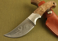 best quality knives - Top quality Browning hunting knives survival fixed blade knife C HRC blade brass wood handle best gift