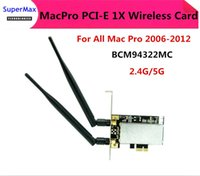 Wholesale High Quality MACPRO PCI E X G G Airport Extreme BCM94322MC Dual frequency Wireless WIFI Card For All Mac Pro order lt no trac