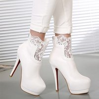 Cheap Free shipping lace ankle boots for women high heel platform red sole martin boots motorcycle boots for women high heel shoes