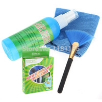 Wholesale In PC Laptop LED LCD Monitor Screen Plasma Cleaner Cleaning Cloth Brush KIT