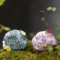 Cheap 5pcs Mini Totoro Pot Rockery Small Stone miniatures fairy garden moss terrarium accessories decoration resin crafts bonsai ornaments Jardin