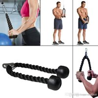 Wholesale Gym Bodybuilding Tricep Rope Fitness Equipment cm Heavy Duty Coated Nylon Rope Back Shoulders Abdominal Training A2