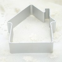 CE / EU baking cutter shapes - Aluminium Mold Christmas House Shaped Sugarcraft Cake Decorating Cookies Baking Pastry Cutter Mould Tool X60 JJ0228W S1