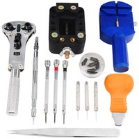 Wholesale 13 Pieces Watch Repair Tool Zip Case Battery Changing Remover Screwdriver Kit Fix Pin Link Remover For Watchmaker L05611 order lt no trackin