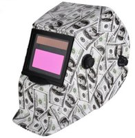 Wholesale Welding Helmet Mask Solar Auto Darkening Welding Helmet Arc Tig Mig Mask Weld Welder Lens Grinding Mask Fang dollar