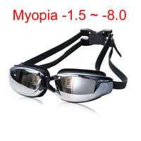arena swimming goggles - Adult Professional myopia Swimming goggles men arena diopter Swim Eyewear anti fog swimming glasses natacion water glasses