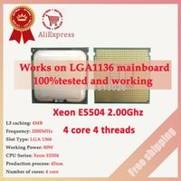 Wholesale Xeon Quad Core E5504 CPU GHz M close to LGA775 Core Quad Q8200 works on LGA mainboard